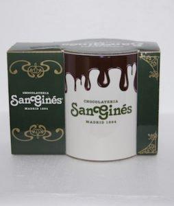 Taza Logo San Ginés con chocolate