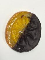 Disco de naranja con chocolate