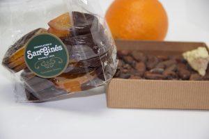 Discos de naranja con chocolate