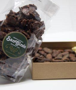 rocas de almendra con chocolate