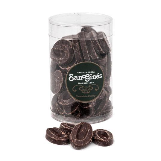 Monedas chocolate negro